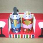 ひな祭り工作の作り方★牛乳パックで可愛いおひなさまを作ろう!【2】