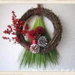 【手作りお正月飾り】クリスマスリースをリメイクするだけ簡単!可愛いお正月リースを作ろう