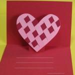 手作りバレンタインカード★ポップアップのかわいいデザイン集
