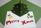 飛び出すクリスマスカードの作り方!簡単なのに可愛い手作りカード★