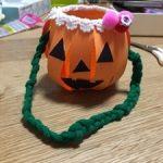 ハロウィンで使うお菓子入れを100均の材料で手作りしてみました!