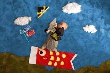 子供の日は鯉のぼりモチーフで!簡単でSNS映えバツグンの寝相アートの作り方