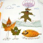 落ち葉を拾って秋冬は幼児とおうちで工作を楽しんでみよう!part3